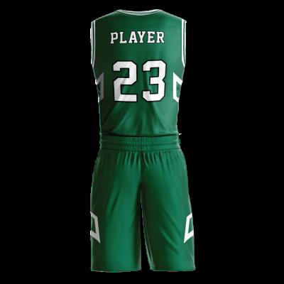 Custom basketball uniform sublimated 505 back view