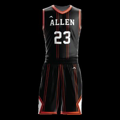 Custom basketball uniform sublimated 506