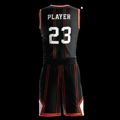 Custom basketball uniform sublimated 506 back view