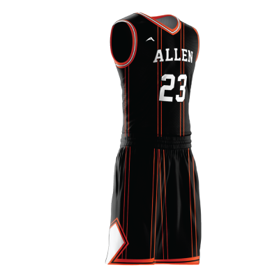 Custom basketball uniform sublimated 506 side view