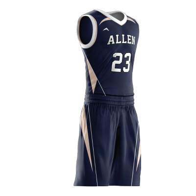 Custom basketball uniform sublimated 508 side view