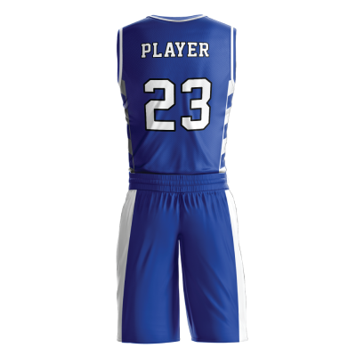 Custom basketball uniform sublimated 509 back view
