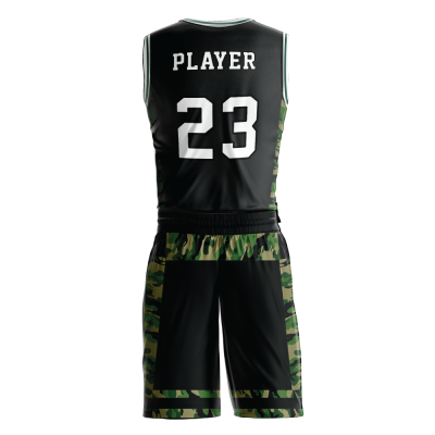 Custom basketball uniform sublimated 511 back view