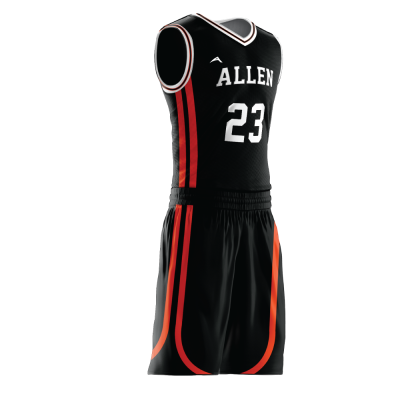 Custom basketball uniform sublimated 512 side view