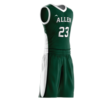 Custom basketball uniform sublimated 514 side view