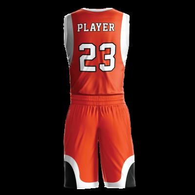 Custom basketball uniform sublimated 515 back view