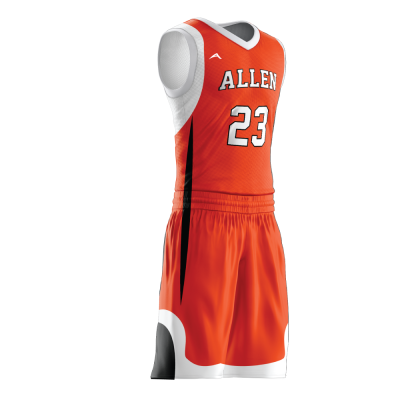 Custom basketball uniform sublimated 515 side view