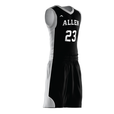 Custom basketball uniform sublimated 516 side view