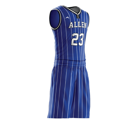 Custom basketball uniform sublimated 517 side view