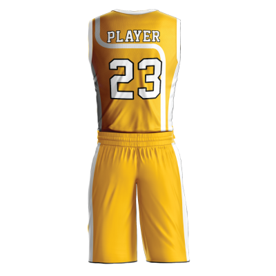 Custom basketball uniform sublimated 518 back view