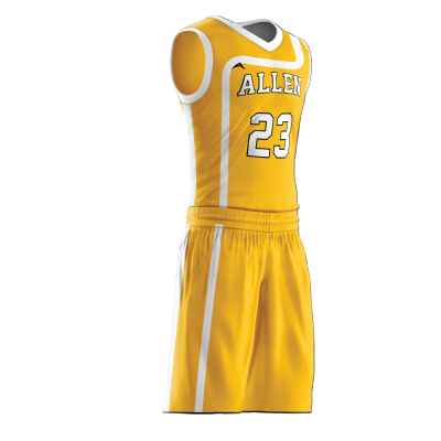 Custom basketball uniform sublimated 518 side view