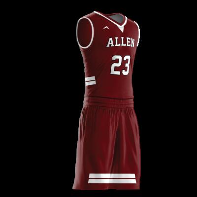 Custom basketball uniform PRO 226 side view