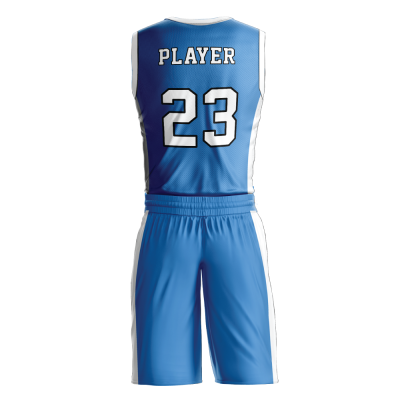 Custom basketball uniform PRO 227 back view