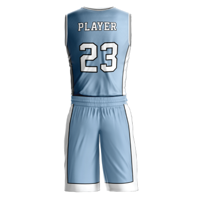 Custom basketball uniform PRO 228 back view