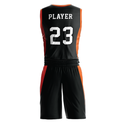 Custom basketball uniform PRO 233 back view