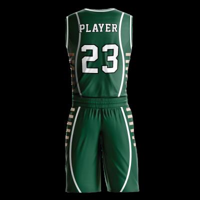 Custom basketball uniform PRO 236 back view