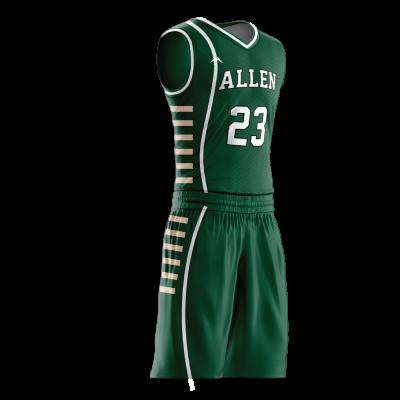 Custom basketball uniform PRO 236 side view