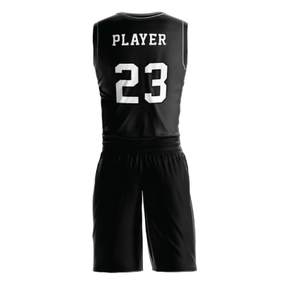 Custom basketball uniform PRO 237 back view