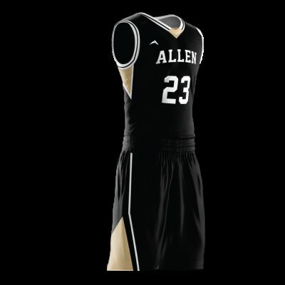 Custom basketball uniform PRO 238 side view