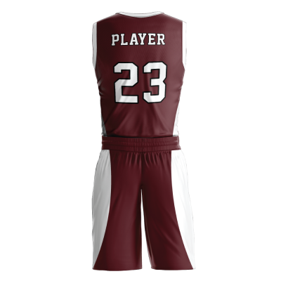 Custom basketball uniform PRO 240 back view