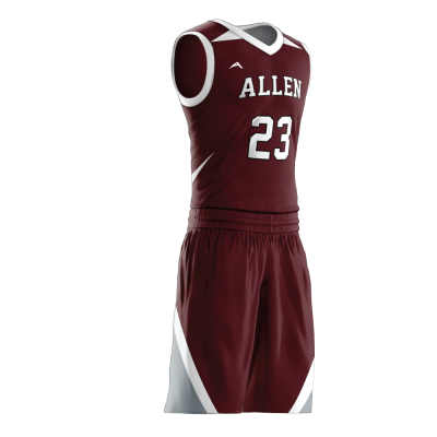 Custom basketball uniform PRO 240 side view