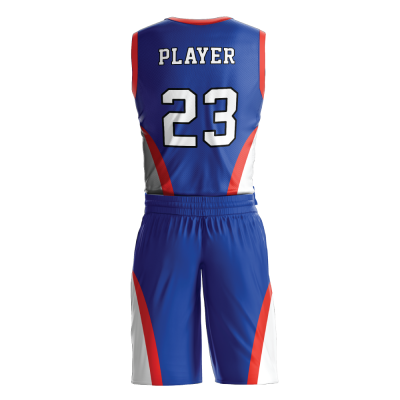 Custom basketball uniform PRO 241 back view