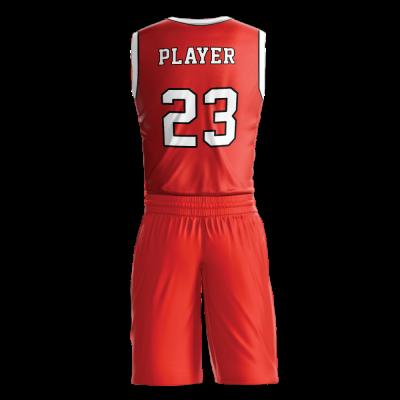 Custom basketball uniform PRO 242 back view