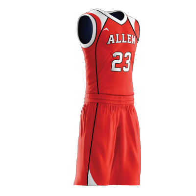Custom basketball uniform PRO 242 side view