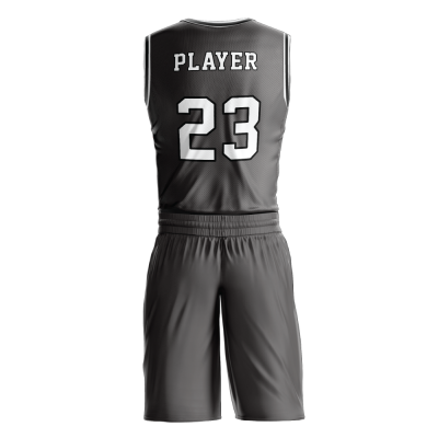 Custom basketball uniform PRO 243 back view