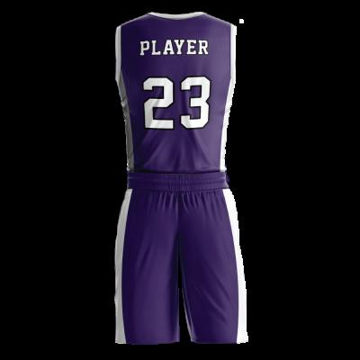 Custom basketball uniform PRO 244 back view