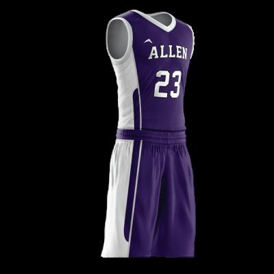 Custom basketball uniform PRO 244 side view