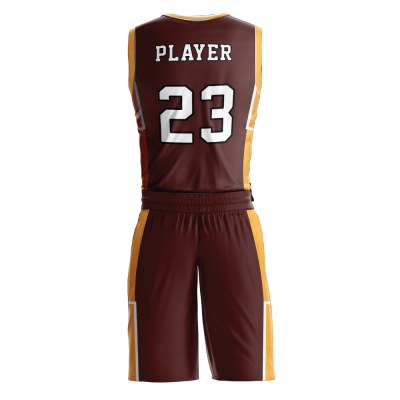 Custom basketball uniform PRO 246 back view