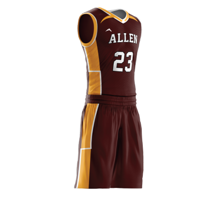 Custom basketball uniform PRO 246 side view