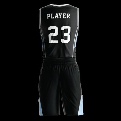 Custom basketball uniform PRO 249 back view