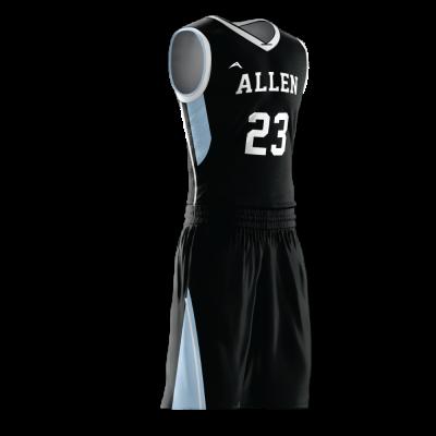 Custom basketball uniform PRO 249 side view