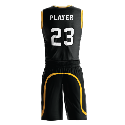 Custom basketball uniform PRO 251 back view