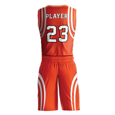 Custom basketball uniform PRO 252 back view