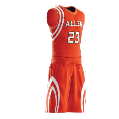 Custom basketball uniform PRO 252 side view