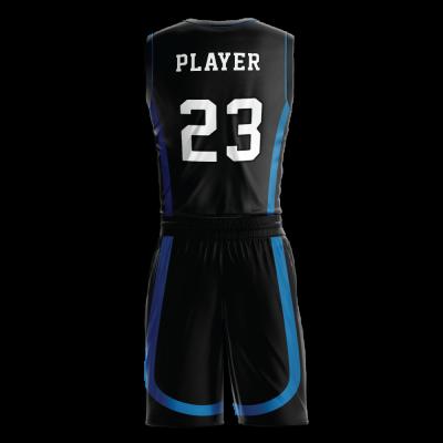 Custom basketball uniform PRO 254 back view