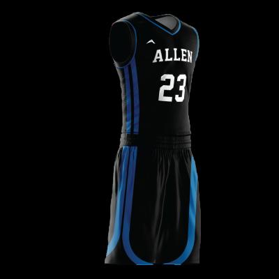 Custom basketball uniform PRO 254 side view