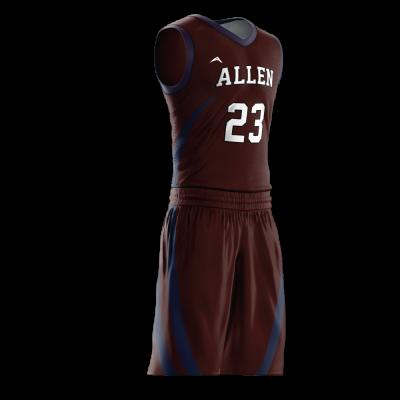 Custom basketball uniform PRO 256 side view