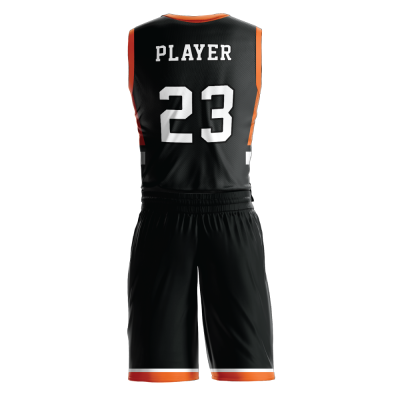 Custom basketball uniform PRO 259 back view