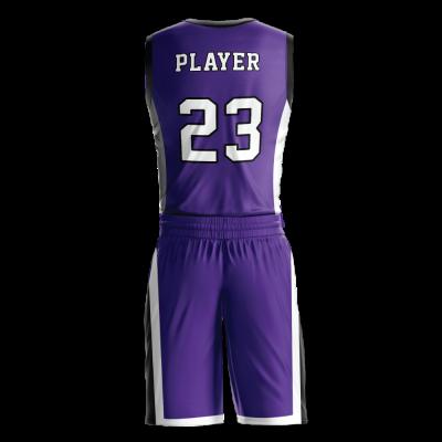 Custom basketball uniform PRO 267 back view