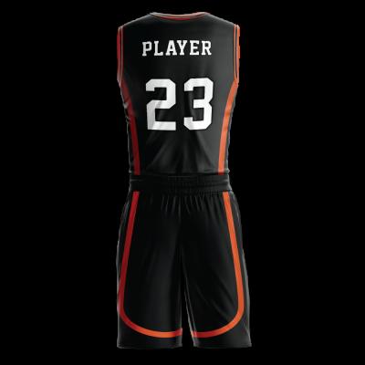 Custom basketball uniform PRO 271 back view