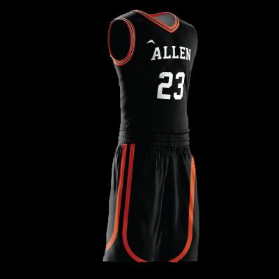 Custom basketball uniform PRO 271 side view