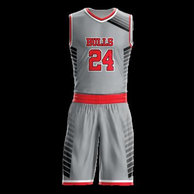 Custom basketball uniform sublimated BULLS