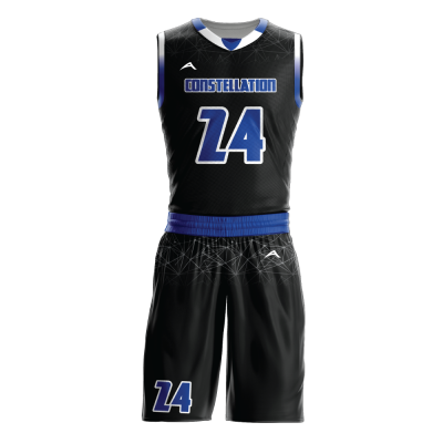 Custom basketball uniform sublimated CONSTELLATION