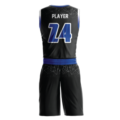 Custom basketball uniform sublimated CONSTELLATION back view