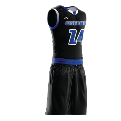 Custom basketball uniform sublimated CONSTELLATION side view