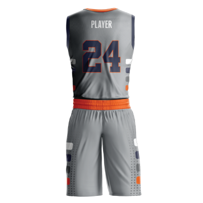 Custom basketball uniform sublimated sublimated back view